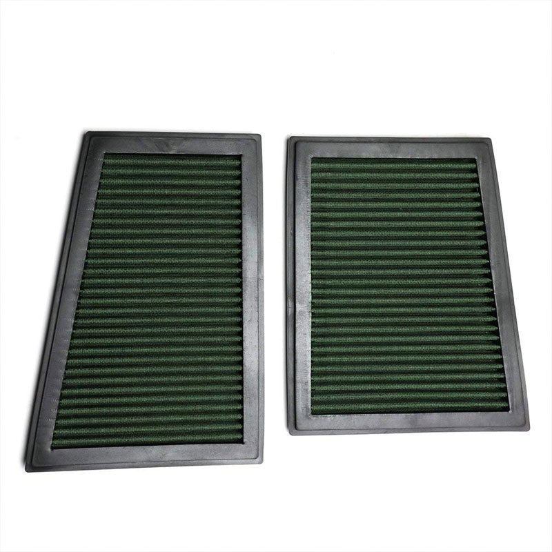 Green High Flow Performance Drop-In Panel Air Filter For Benz 07-09 E320 Diesel-Performance-BuildFastCar