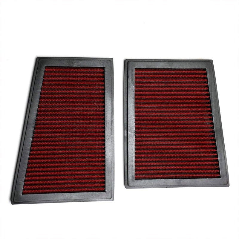 Red High Flow Washable OE Drop-In Panel Air Filter For Benz 10-13 R350 Diesel-Performance-BuildFastCar