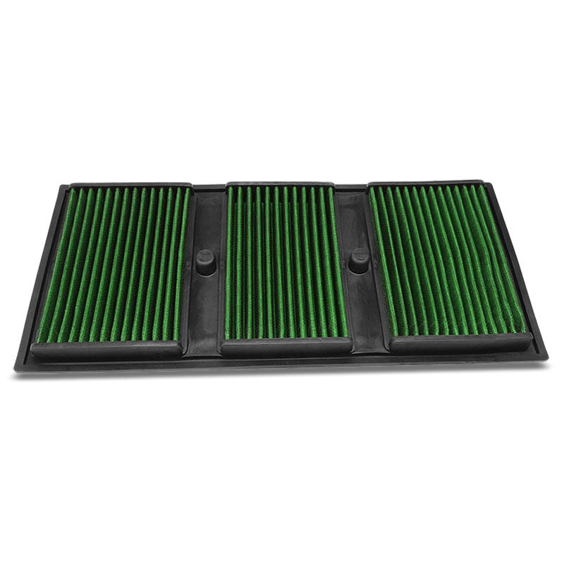 Green High Flow Cotton OE Style Drop-In Panel Air Filter For 12-16 Benz E350-Performance-BuildFastCar