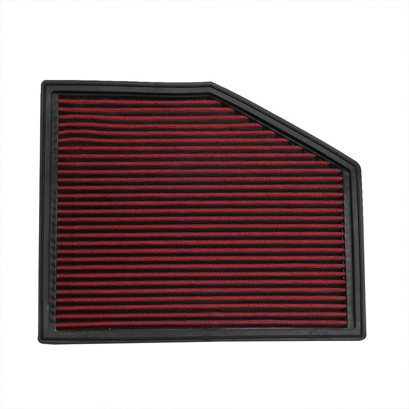 Red High Flow Direct Replace Drop-In Panel Air Filter For 04-07 525i 2.5L 3.0L-Performance-BuildFastCar