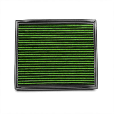 Green High Flow Washable OE Drop-In Panel Air Filter For BMW 11-17 X5 X6 3.0L-Performance-BuildFastCar