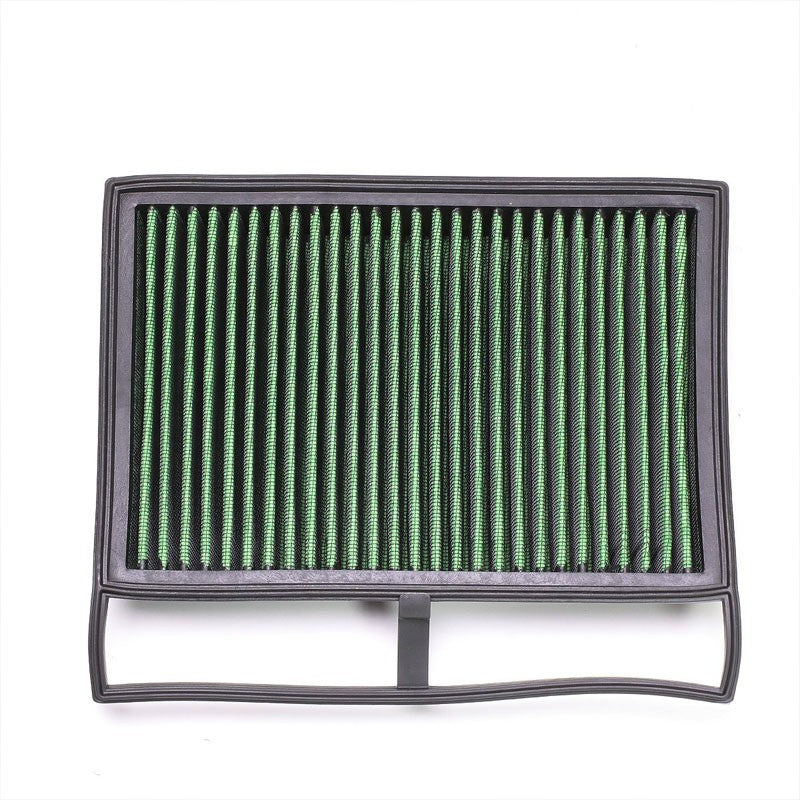 Green High Flow Cotton Wash/Reusable Drop-In Panel Air Filter For 05-17 SL65 AMG-Performance-BuildFastCar