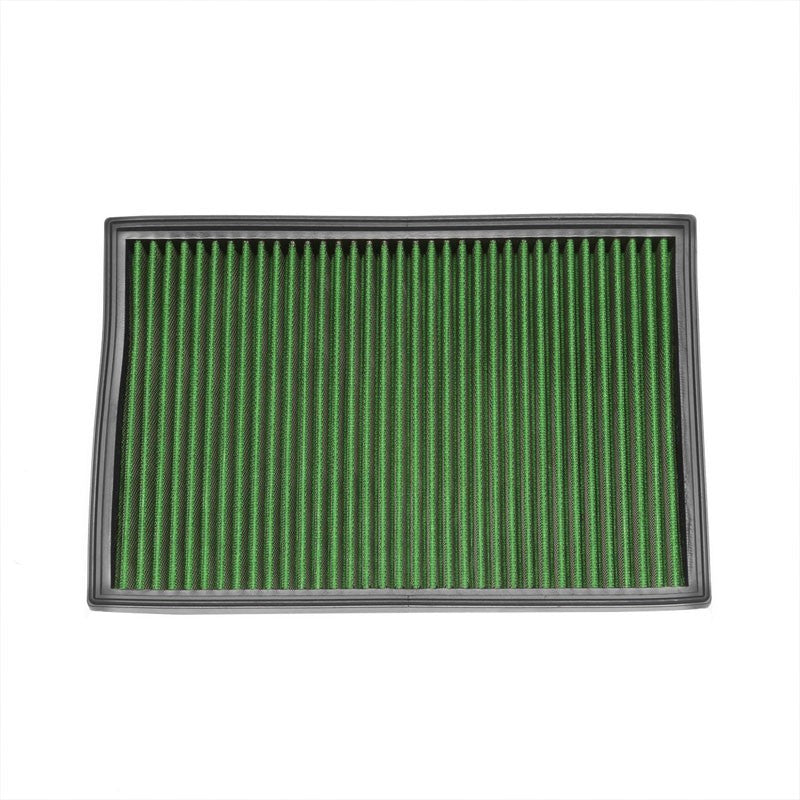 Green High Flow Cotton Washable Drop-In Panel Air Filter For 10-15 AMG SLS-Performance-BuildFastCar