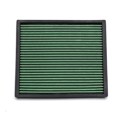 Green High Flow Washable OE Drop-In Panel Air Filter For 99-04 Grand Cherokee-Performance-BuildFastCar