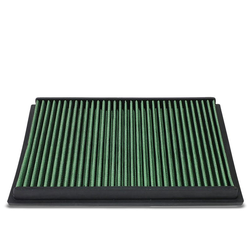 Green High Flow Washable Drop-In Panel Air Filter For 02-08 VW Polo 1.4L L4-Performance-BuildFastCar