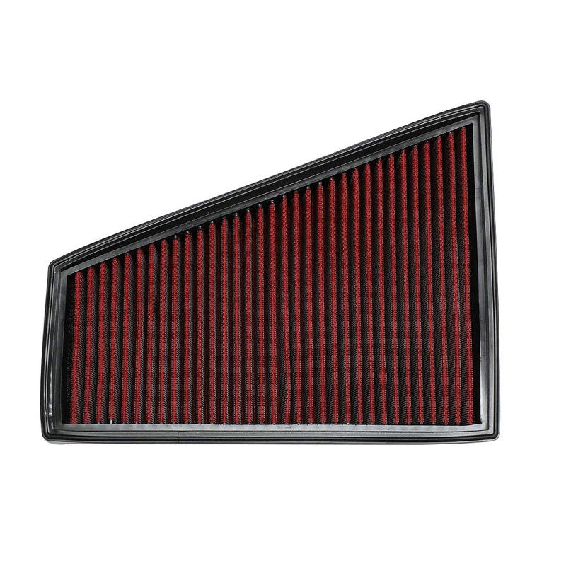 Red High Flow Cotton Washable OE Drop-In Panel Air Filter For 06-15 Ford S-MAX-Performance-BuildFastCar