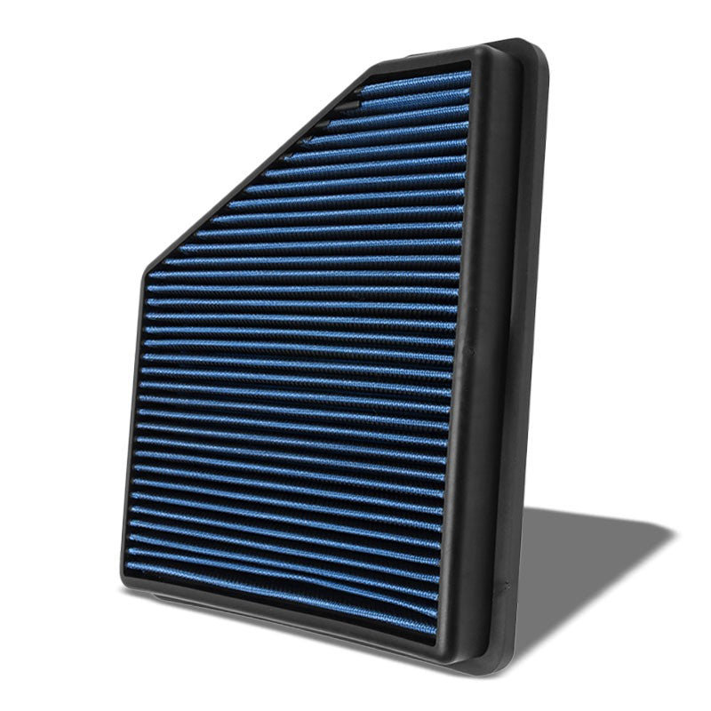 Blue High Flow Washable OE Style Drop-In Panel Air Filter For 10-15 Camaro-Performance-BuildFastCar