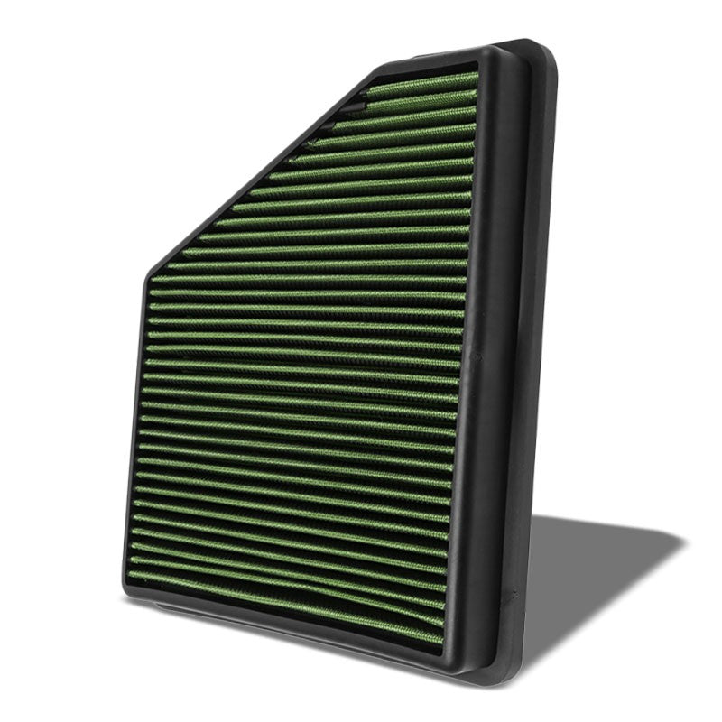 Green High Flow Washable OE Style Drop-In Panel Air Filter For 10-15 Camaro-Performance-BuildFastCar