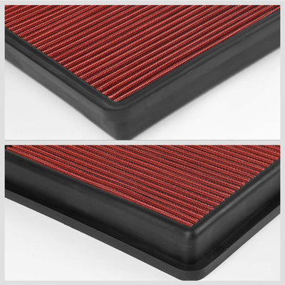 Red High Flow Washable OE Style Drop-In Panel Air Filter For 10-15 Ddoge Camaro-Performance-BuildFastCar