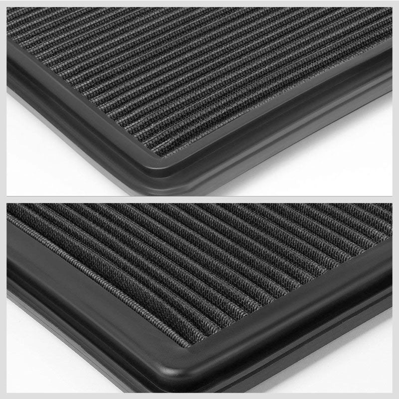 Black High Flow OE Drop-In Replacement Panel Air Filter For 06-15 L200 Diesel-Performance-BuildFastCar