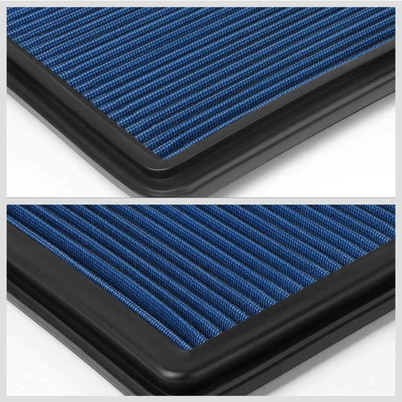 Blue High Flow OE Drop-In Replacement Panel Air Filter For 06-15 L200 Diesel-Performance-BuildFastCar