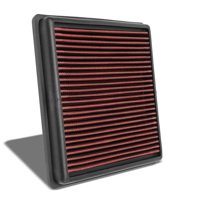 Red High Flow OE Drop-In Replacement Panel Air Filter For 06-15 L200 Diesel-Performance-BuildFastCar