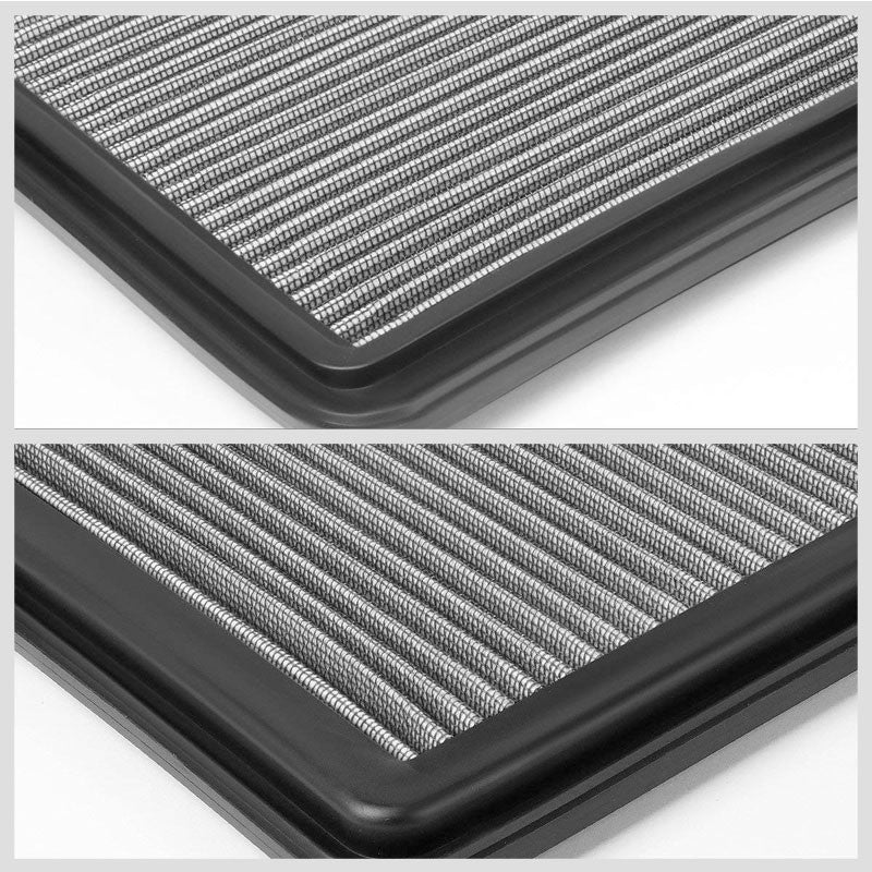 Silver High Flow OE Drop-In Replacement Panel Air Filter For 06-15 L200 Diesel-Performance-BuildFastCar