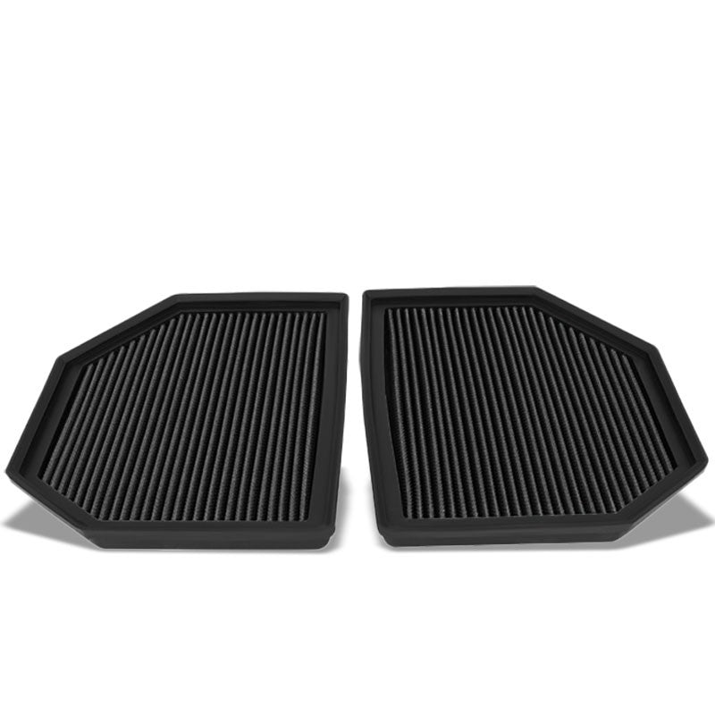 Black Cotton OE Style Dry Drop-In Panel Air Filter For 12-UP BMW M3/M4/M5/M6-Performance-BuildFastCar