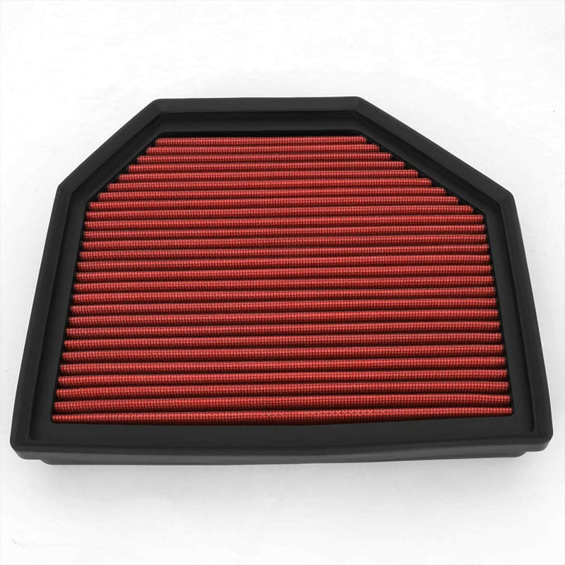 Red Cotton OE Style Dry Drop-In Panel Air Filter For 12-UP BMW M3/M4/M5/M6-Performance-BuildFastCar