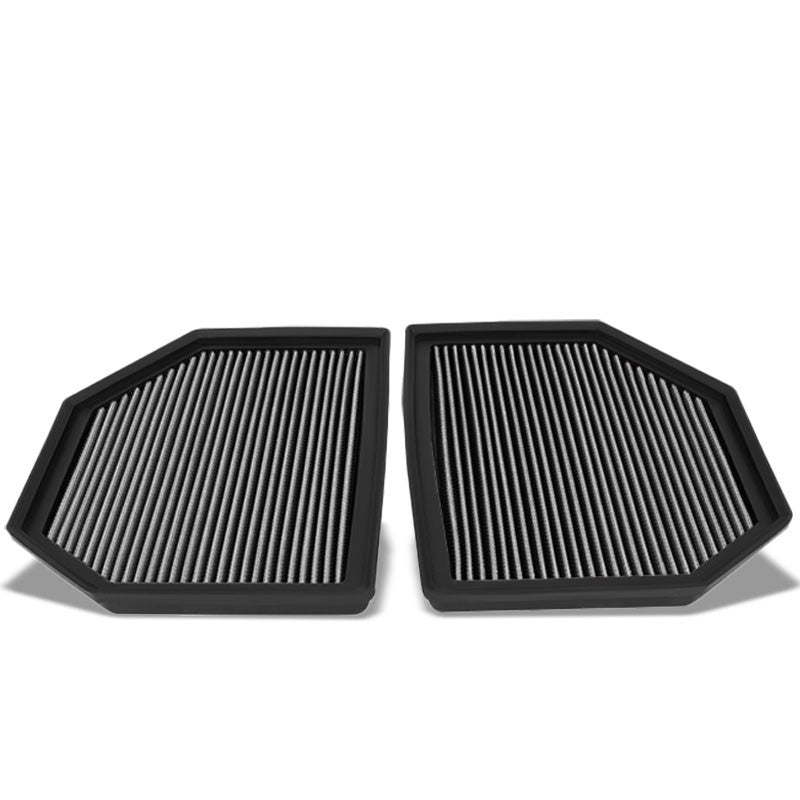 Silver Cotton OE Style Dry Drop-In Panel Air Filter For 12-UP BMW M3/M4/M5/M6-Performance-BuildFastCar