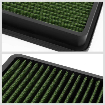 GreenCotton OE Style Drop-In Panel Air Filter For 92-02 Toyota Corolla 1.6L/1.8L-Filter-BuildFastCar-BFC-AIRFILPAN-183-GN