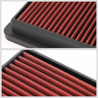 Red Cotton OE Style Drop-In Panel Air Filter For 12-18 Mazda 3 2.0L/2.3L/2.5L-Filter-BuildFastCar-BFC-AIRFILPAN-184-RD