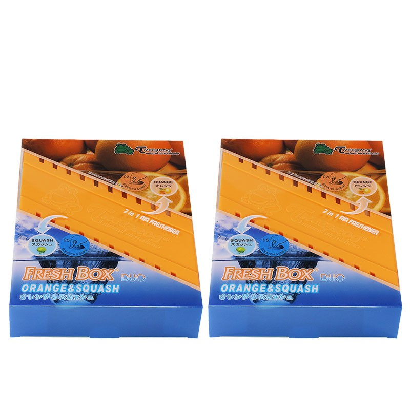 2xBox Orange Squash Scent Gel 200g Interior Car Air Freshener Odor Smell Remover-Accessories-BuildFastCar