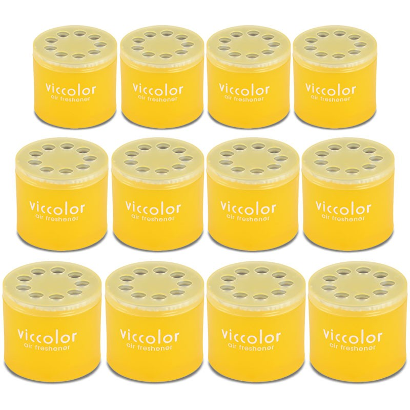 12x Viccolor Gel Based Can/Tropical Scent Air Freshener Indoor Truck/Van/Truck