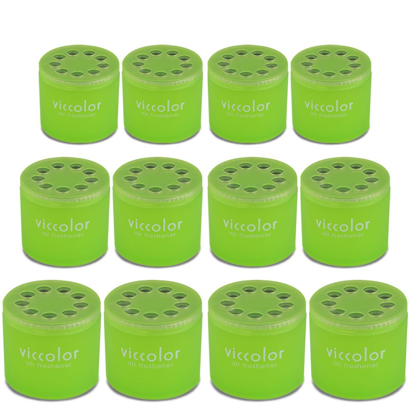 12x Viccolor Gel Based Can/Shampoo Scent Air Freshener Deodorize Automotive Car