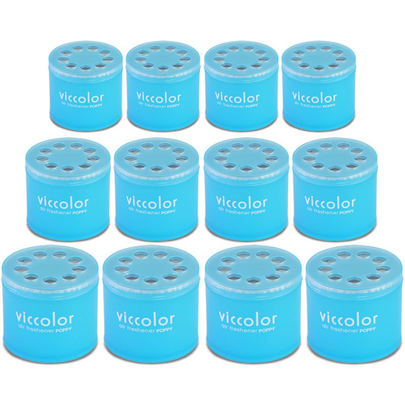 12x Viccolor Gel Based 85g Can/Squash Scent Air Freshener Truck/Van