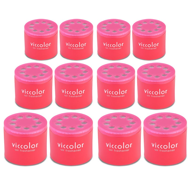 12x Viccolor Gel Based Can/Berry Berry Scent Air Freshener Interior SUV