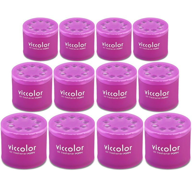 12x Viccolor Gel Based Can/Night Angel Scent Air Freshener Indoor Auto