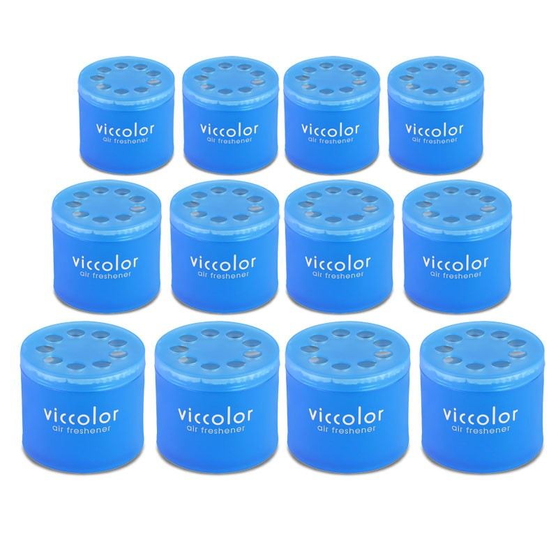 12x Viccolor Gel Based Can/Elegant Shower Scent Air Freshener Bathroom