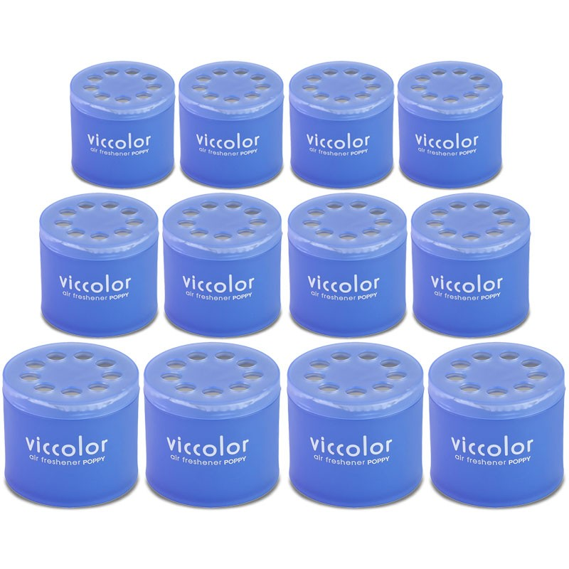 12x Viccolor Gel Based Can/Blue Water Scent Air Freshener Deodorize Restroom