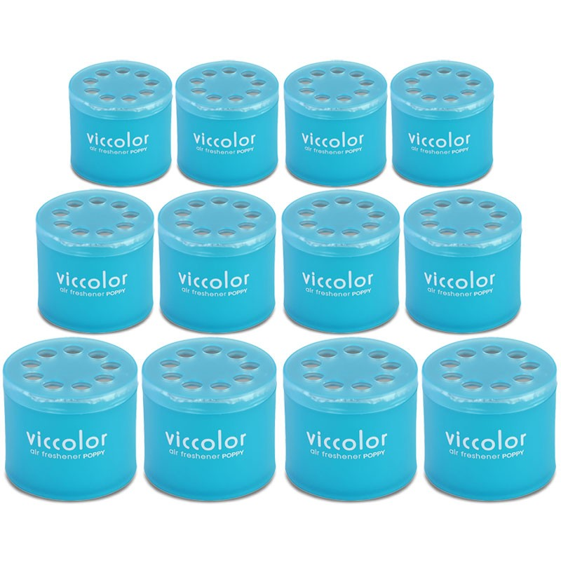12x Viccolor Gel Based Can/Resort Sour Scent Air Freshener Home/Office