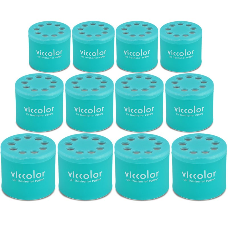 12x Viccolor Gel Based 85g Can/Green Apple Scent Air Freshener RV SUV Car