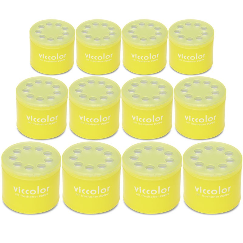 12x Viccolor Gel Based Can/Lemon Squash Scent Air Freshener Home/Office/Car/Boat