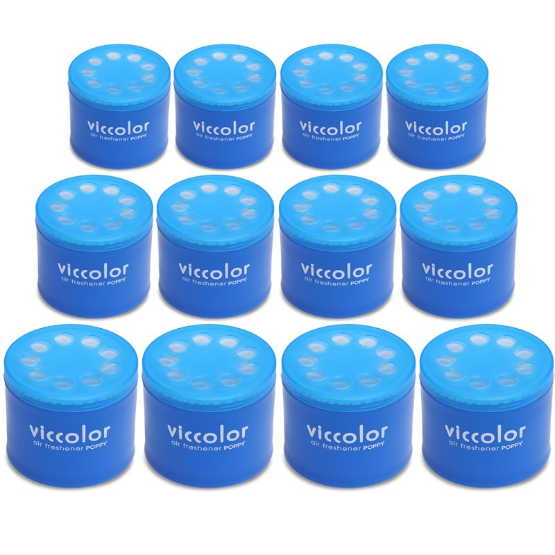 12x Viccolor Gel Based Can/Marine Squash Scent Air Freshener Interior SUV