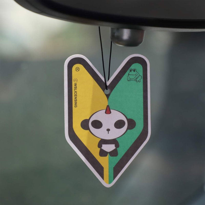 1x Tree Frog Young Leaf Paper Panda J9/Midnight Squash Scent Air Freshener Auto