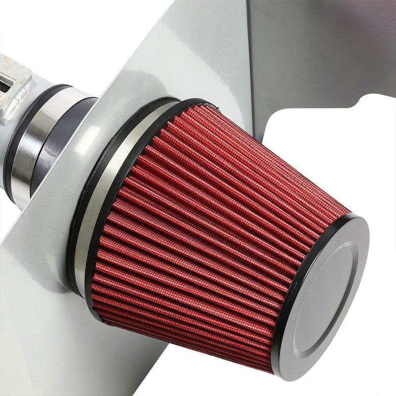 Cold Air Intake Kit Silver Pipe+Heat Shield For Chevrolet 12-14 Camaro LT/LS V6-Performance-BuildFastCar