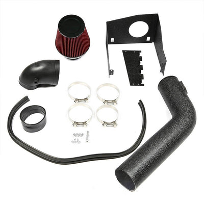 Cold Air Intake Kit Black Pipe+Filter+Heat Shield For Ford 09 -10 F-150 V8 5.4L-Performance-BuildFastCar
