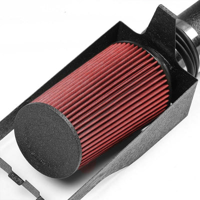 Cold Air Intake Kit Black Pipe+Heat Shield For Ford 99-03 F250 Super Duty V8-Performance-BuildFastCar