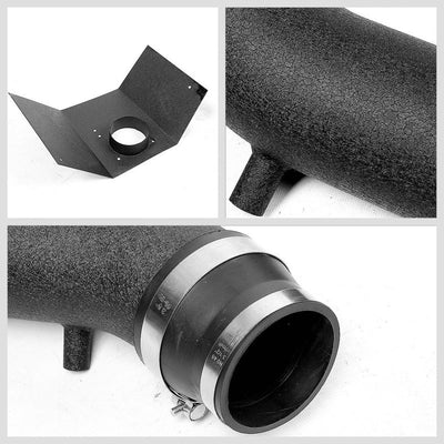 Black Air Intake Aluminum Piping+Heat Shield For Lincoln 03-05 Aviator 4.6L V8-Performance-BuildFastCar