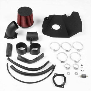 Cold Air Intake Kit Black+Heat Shield For 99-03 Frontier D22/Xterra WD22 3.3L V6-Performance-BuildFastCar
