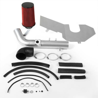 Cold Air Intake Kit Silver Pipe+Heat Shield For Toyota 00-04 Tundra 2UZ-FE V8-Performance-BuildFastCar