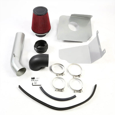 Cold Air Intake Kit Silver Pipe+Heat Shield For GMC 07-08 Yukon/Tahoe/Sierra V8-Performance-BuildFastCar