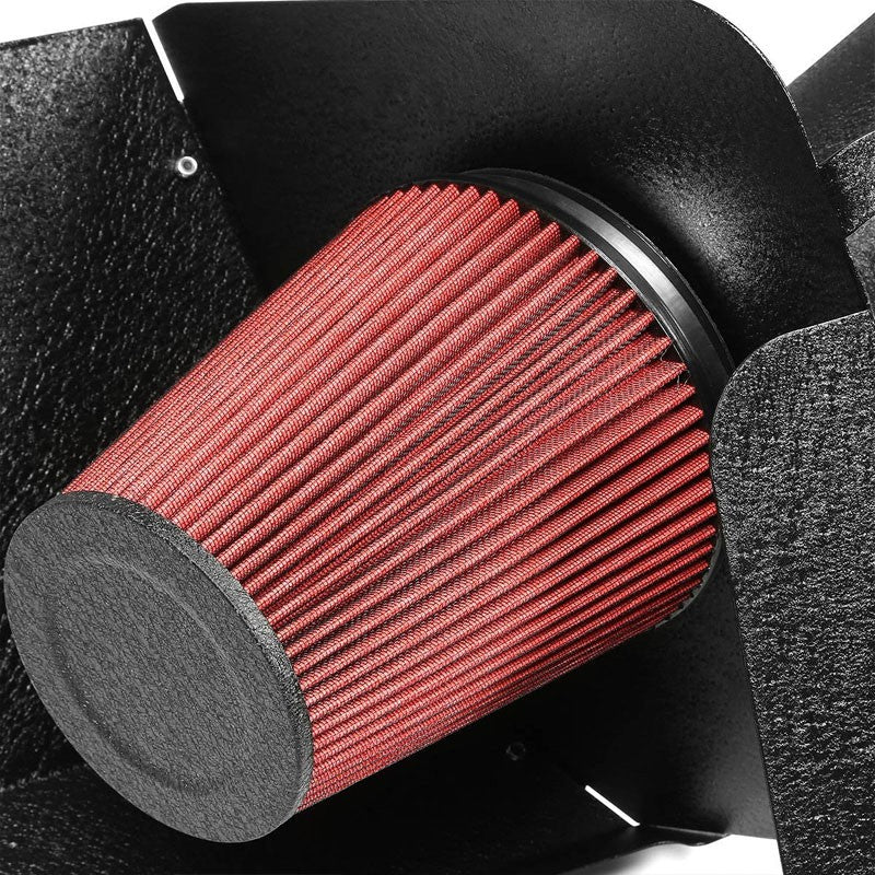 Cold Air Intake Kit Black Pipe+Heat Shield For GMC 09-14 Yukon/Avalanche V8-Performance-BuildFastCar