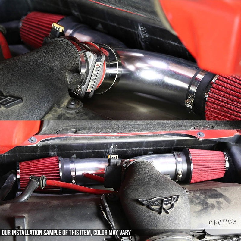 Dual Shortram Air Intake Black Pipe+Red Filter for Dodge 00-09 Dakota/Durango-Performance-BuildFastCar