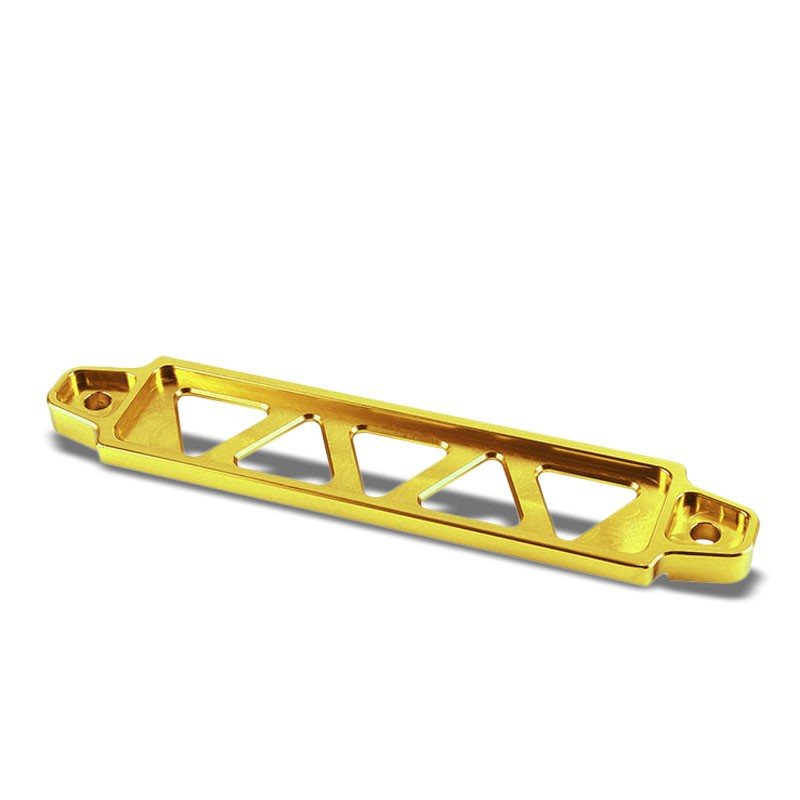 190MM/220MM Gold Billet Aluminum Car Battery Tie Down Mount Bracket Long Bar-Performance-BuildFastCar