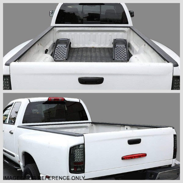 Black Cargo Truck Bed Cap Molding Rail Protector Cover For 01-04 Tacoma Crew Cab-Exterior-BuildFastCar