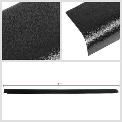 Black Cargo Truck Bed Cap Molding Rail Protector Cover For 90-00 C/K 6.5Ft Bed-Exterior-BuildFastCar