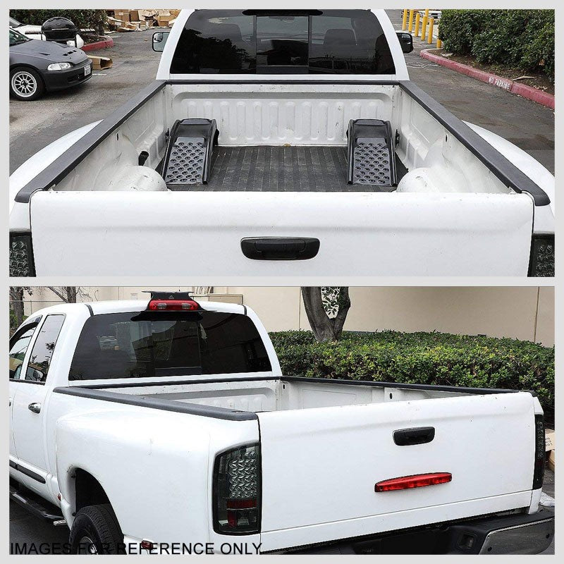 2PCS Truck Bed Cap Molding Rail Protector Cover For 07-13 Sierra 1500 8Ft Bed-Exterior-BuildFastCar