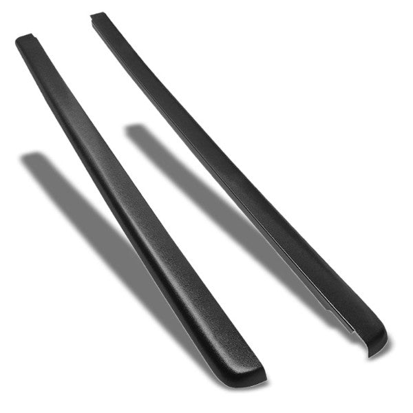 Pair Black Truck Bed Cap Molding Rail Cover For 99-07 Silverado/Sierra 6.5Ft Bed-Exterior-BuildFastCar