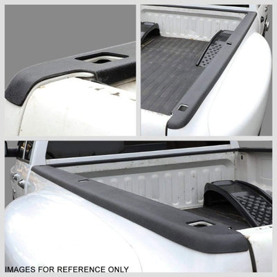 Black Truck Bed Cap Molding Rail Cover For 07-13 Silverado 1500 5.8Ft Bed W/Hole-Exterior-BuildFastCar